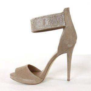 BEBE Alexis Ankle Cuff Womens Stiletto 9